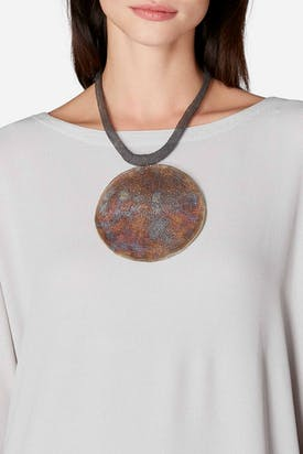Photo of Golden Crochet Disc Necklace