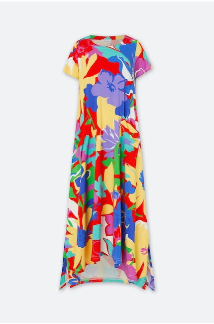 Photo of Retro Floral Jersey Dress