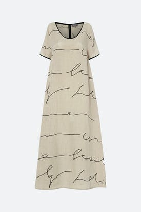 Photo of Signature Linen Print Dress