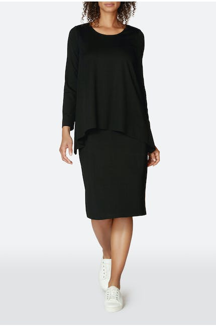 Ponte Double Layer Dress