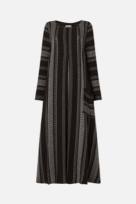 Photo of Crinkle Stripe Flared Dress