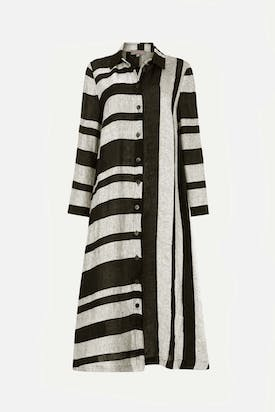 Photo of Linen Stripe Shirt Dress