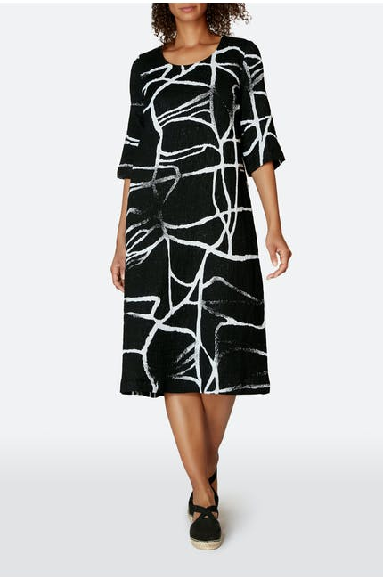 Abstract Linen Cotton Dress