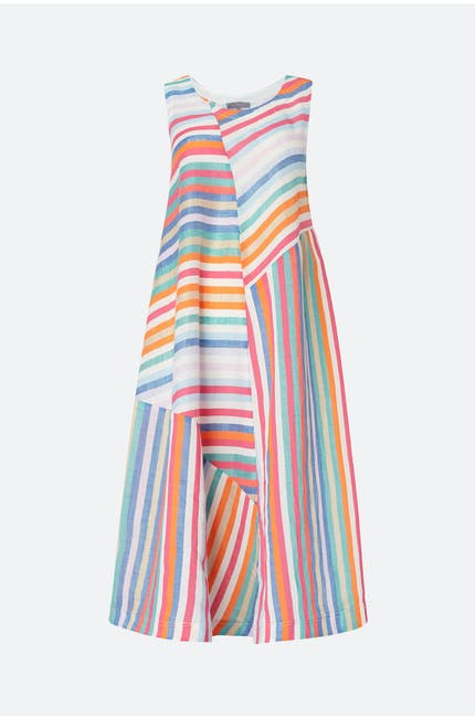 Stripe Linen Sleeveless Dress