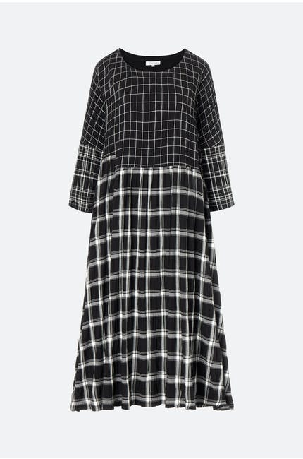 Photo of Mono Patch Check Boxy Dress