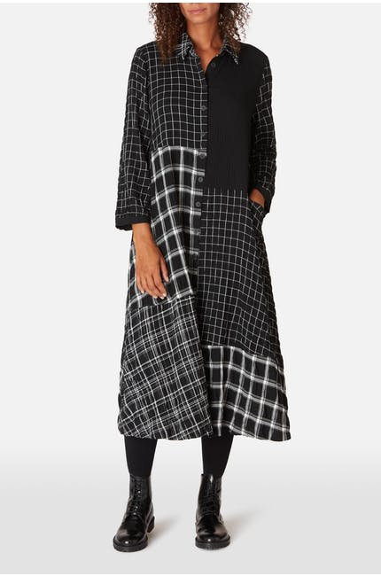 Photo of Mono Patch Check Shirt Dress
