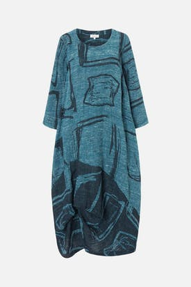 Photo of Abstract Print Tweed Dress