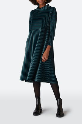 Photo of Velvet Jersey Stripe Dress
