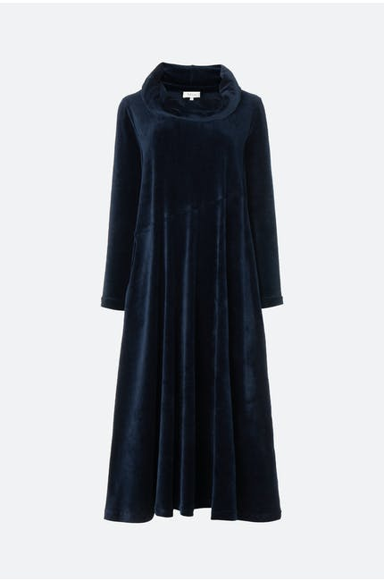 Photo of Velvet Jersey Cowl Neck Dress