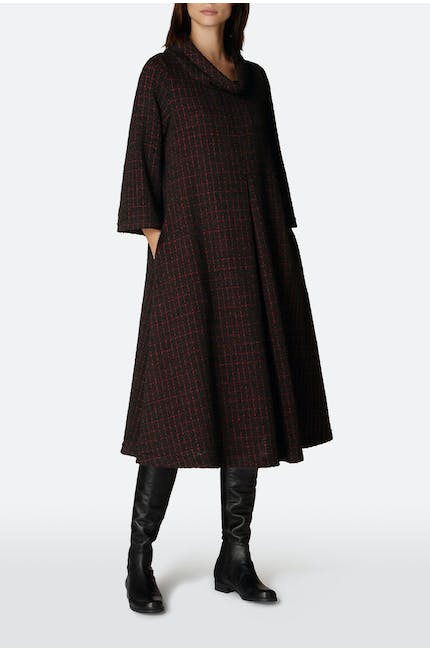 Graphic Boucle Jersey Dress