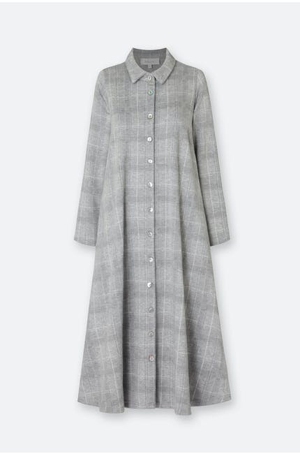 Melange Check Jersey Dress