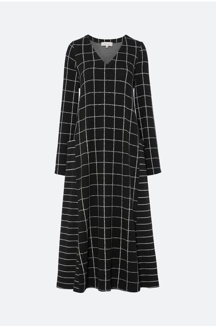 Photo of Broken Check Jersey Dress