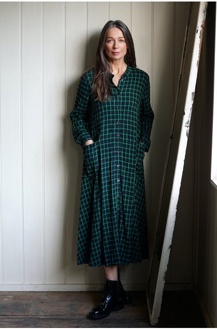 Grid Check Shirt Dress