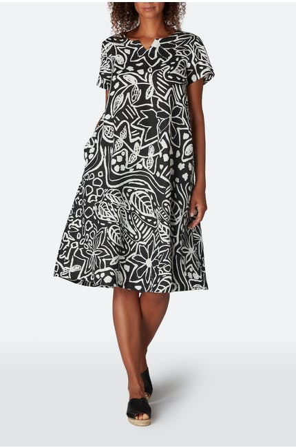 Photo of Mono Garden Print Linen A-line Dress