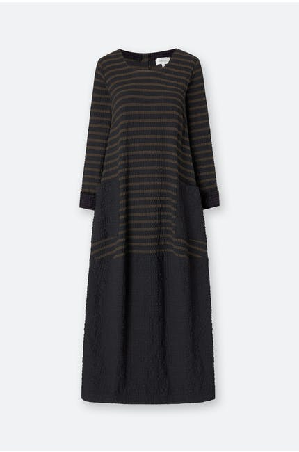 Running Stitch Stripe Dress