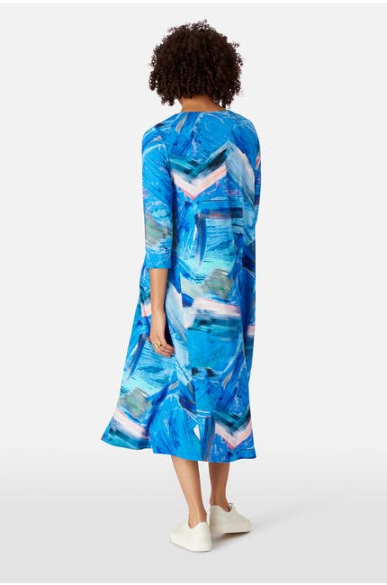 Abstract Painted Jersey Dress