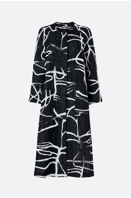 Abstract Linen Cotton Coat