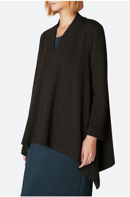 Textured Jersey Drape Jacket