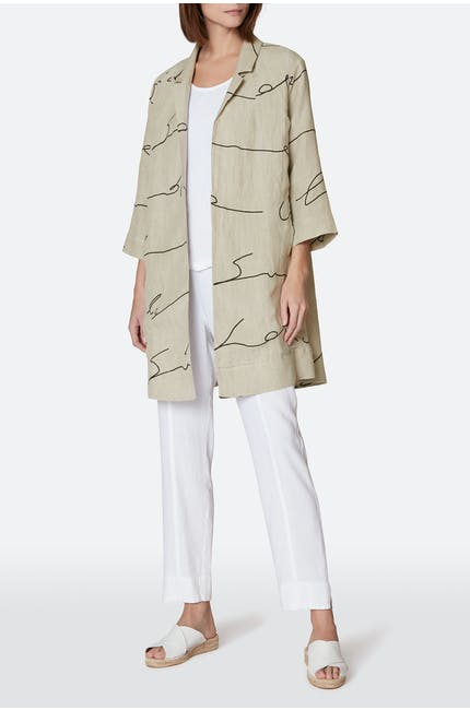 Photo of Signature Linen Print Jacket