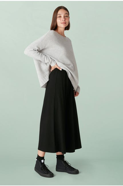 Photo of Fluid Crepe Jersey Culottes