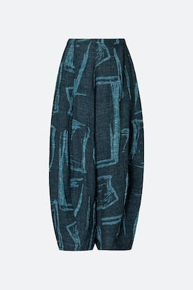 Photo of Abstract Print Tweed Trouser