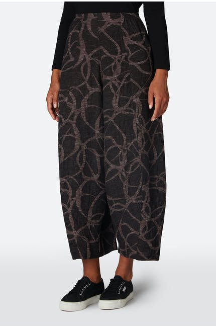 Abstract Circle Jacquard Trouser