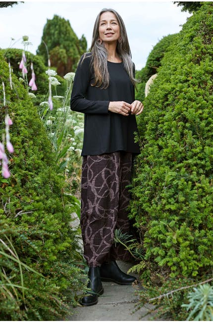 Photo of Circle Overlap Jacquard Trouser