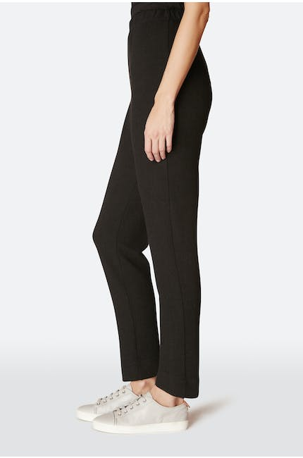 Textured Jersey Straight-Leg Trouser