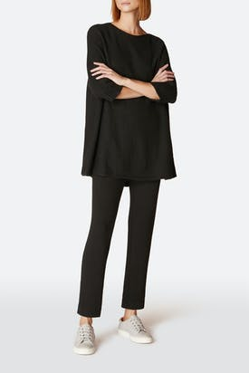 Photo of Textured Jersey Straight-Leg Trouser