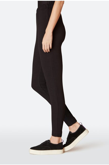Textured Jersey Stretch Legging