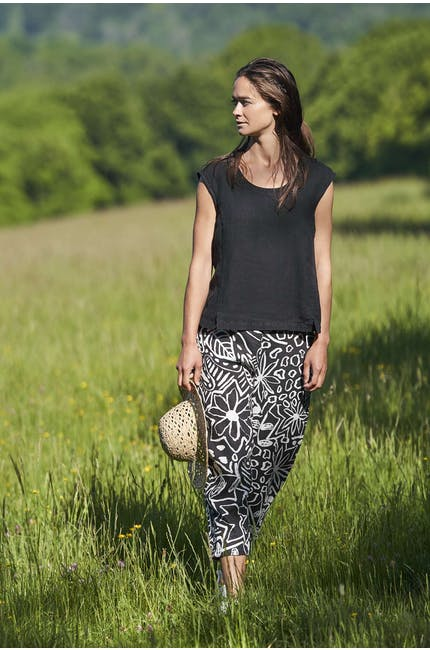 Photo of Mono Garden Print Linen Bubble Trouser