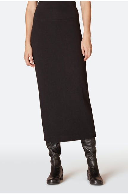 Textured Jersey Tube Skirt