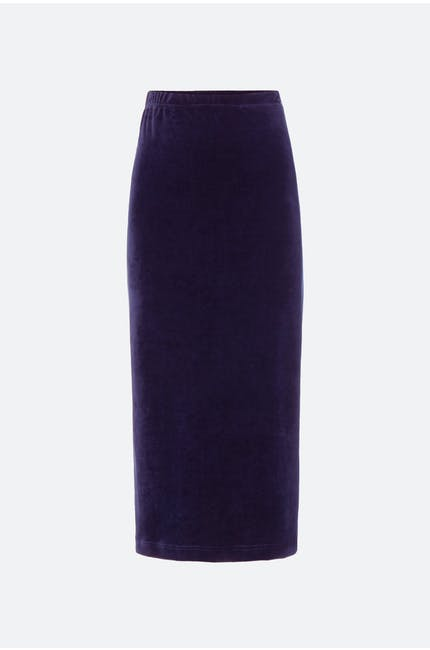 Photo of Velvet Jersey Tube Skirt