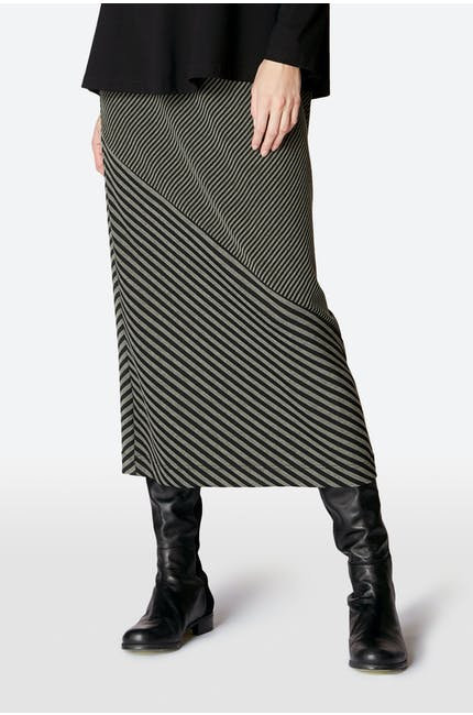 Double Stripe Jersey Skirt