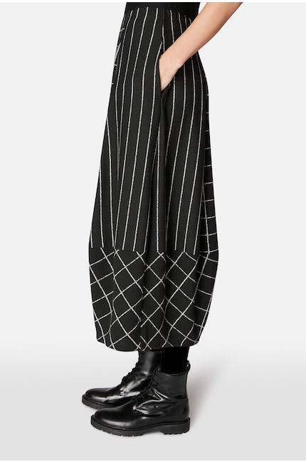 Broken Check Jersey Skirt