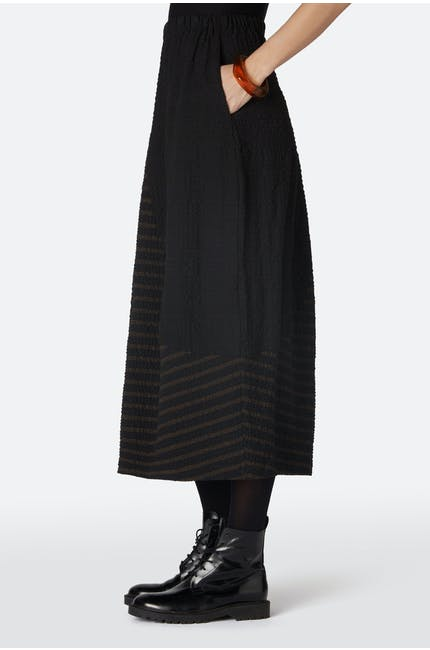 Running Stitch Stripe Skirt