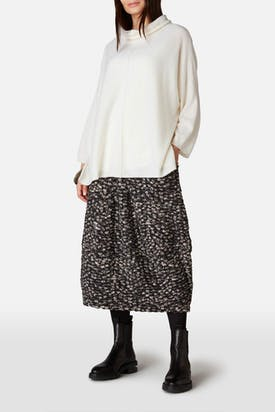 Photo of Wave Dot Jersey Skirt