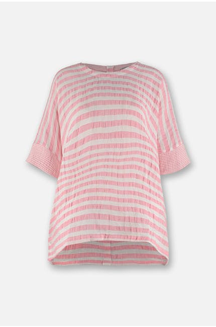 Photo of Seersucker Stripe Boxy Top