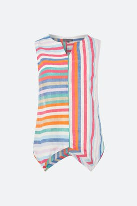 Photo of Stripe Linen Sleeveless Top