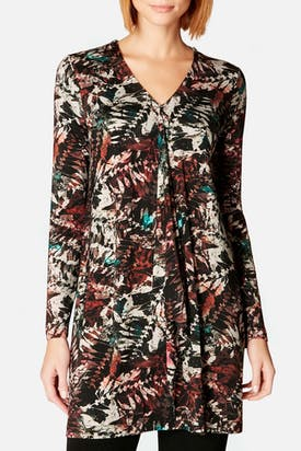 Photo of Leaf Print Jersey Tunic
