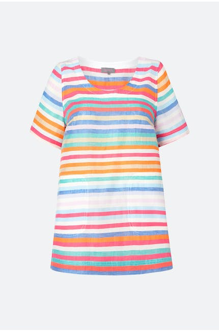 Stripe Linen Top