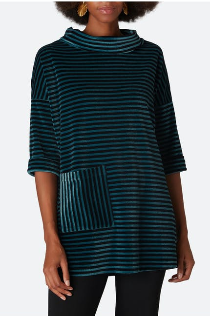 Photo of Velvet Jersey Stripe Tunic