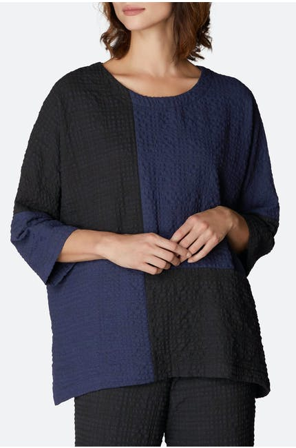 Crinkle Twill Patch Top
