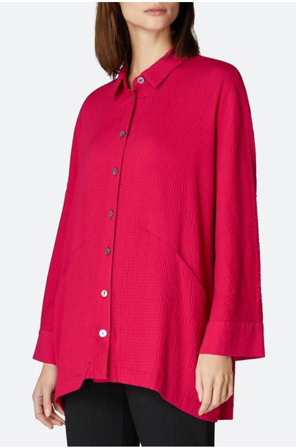 Photo of Crinkle Viscose Boxy Shirt