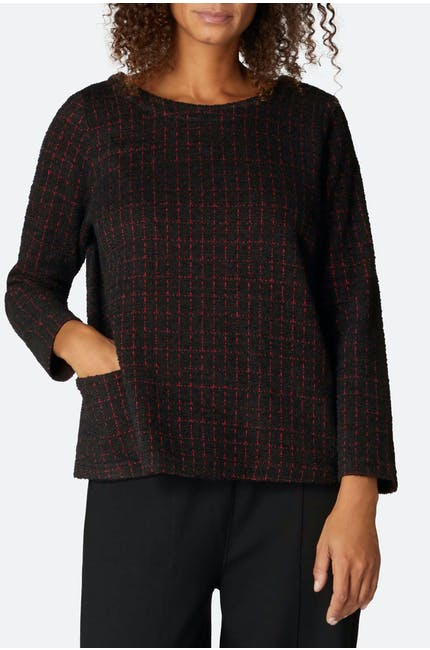 Graphic Boucle Jersey Top