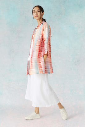 Photo of Rainbow Ikat Jacquard Shirt