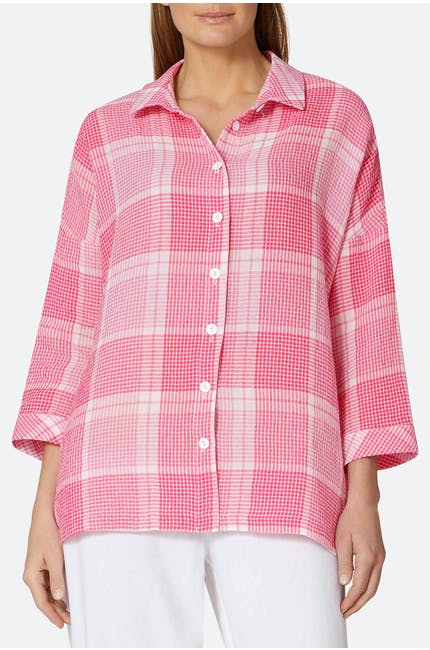 Photo of Seersucker Grid Check Shirt
