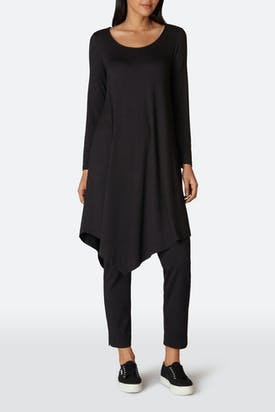 Photo of Fluid Crepe Jersey Asymmetric Tunic