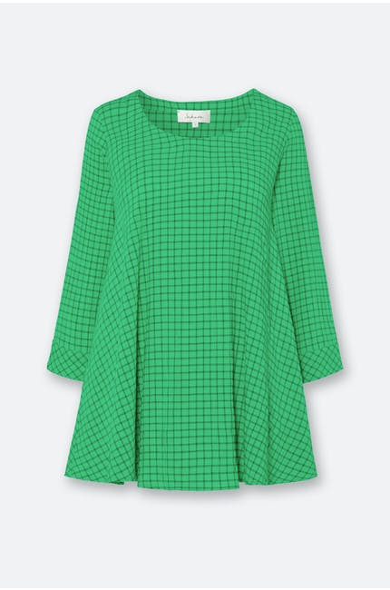 Grid Check Flared Top