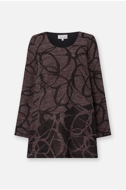 Abstract Circle Jacquard Top